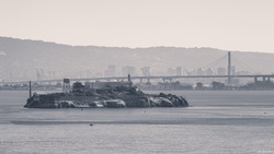 Alcatraz and The Oakland Bay Bridge