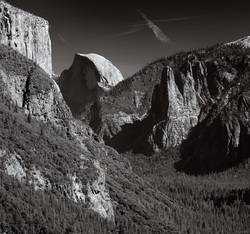 El Capitan, Half Dome and Sentinel Creek