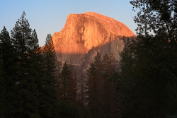 Half Dome Sundown