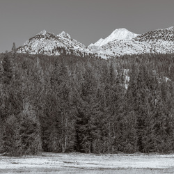 Mount Conness and Ragged Peak from Tuolumne Meadows