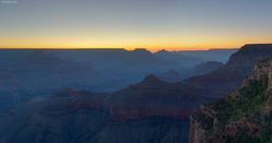 Sun Rising Over South Rim
